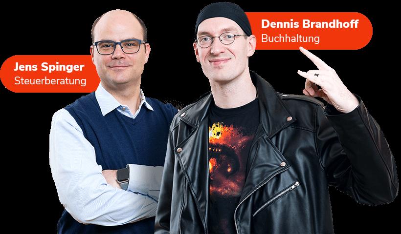 Jens Spinger und Dennis Brandhoff
